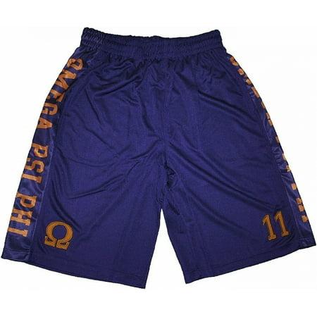 Omega Psi Phi Divine 9 S2 Mens Basketball Shorts  Purple   3Xl