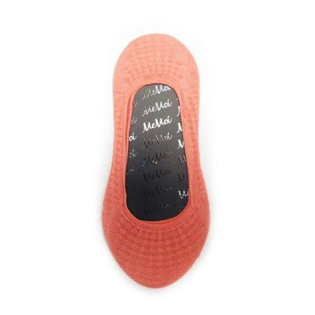 MeMoi Allover Diamonds Foot Liner One Size / Fusion  Coral MS3 - Fusion Coral