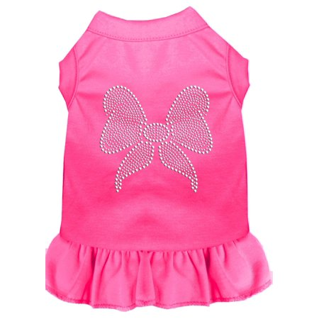 Rhinestone Bow Dress Bright Pink Sm 10
