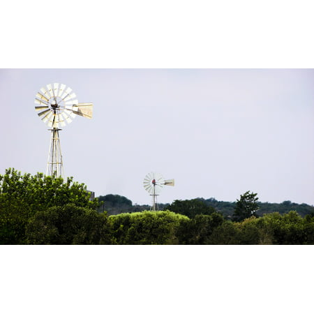 Countryside Windmill - LAMINATED POSTER Countryside Rural Wind Traditional Windmill Nature Poster Print 24 x 36
