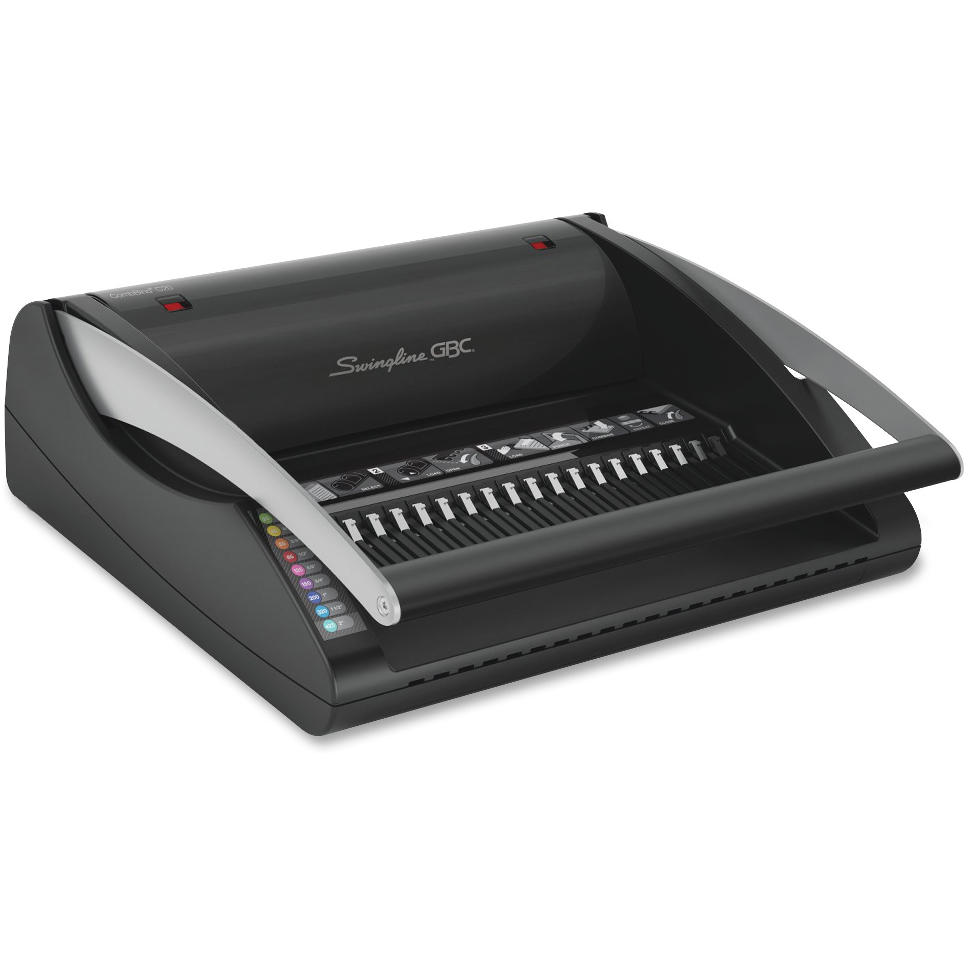 Swingline GBC CombBind C20 Manual Binding Machine, Binds 330 SHeets, Punches 20 SHeets, Black by ACCO Brands Corporation