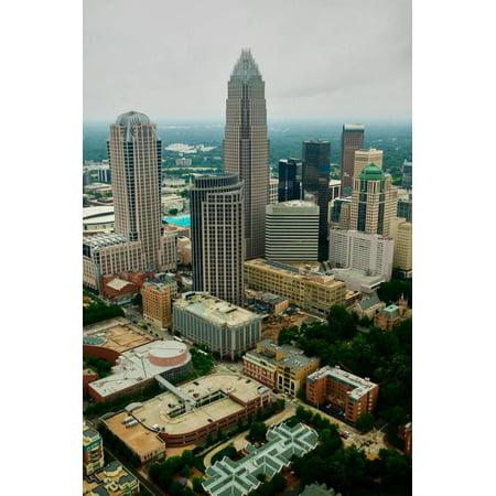 Aerial view of Charlotte, NC Print Wall Art](Charlotte Nc Halloween Parties)