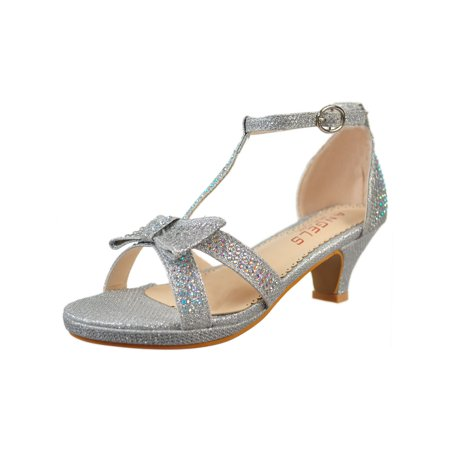 Angels Girls' Platform Pumps (Sizes 10 - 5)