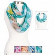 "Scarf-Infinity-Splatter Print-Assorted (25""X 70"") (Pack of 4)"