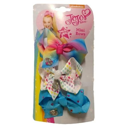 JoJo Siwa Rainbow Mini Hair Bows 3 Pack Reebok Womens Pink Ribbon