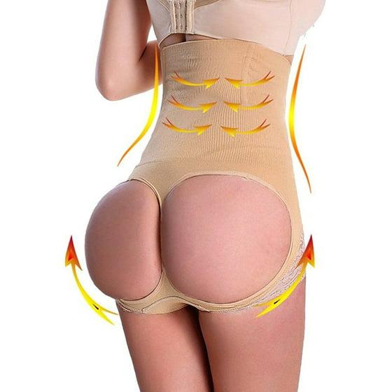 1341897ff DYMADE - Women s Thigh Slimmer Butt Lifter Shaper Seamless Tummy Control Hi- waist Panty - Walmart.com