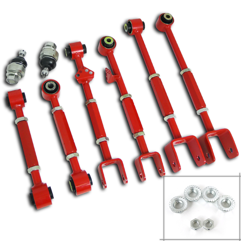 Spec-D Tuning 2008-2013 Honda Accord Front Ball Joint & Rear Camber Control Arm Toe Kit Tsx Tl 08 09 10 11 12 13
