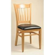 Alston Quality 3643 UP-W-Ebony Classico Chair Walnut Frame