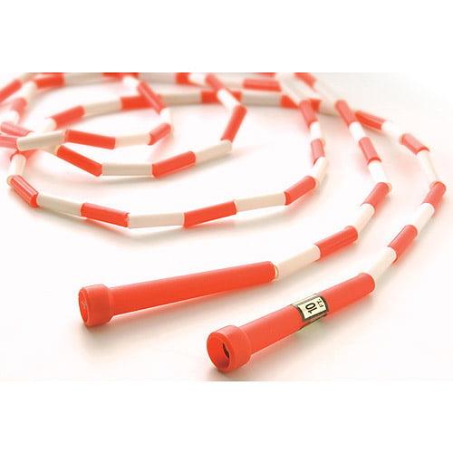 10' Segmented Skip Rope, Red/White