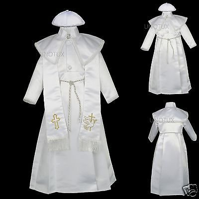 NEW BABY BOYs TODDLER CHRISTENING BAPTISM FORMAL GOWN GOLD NEW BORN TO 30 - Baptism Or Christening