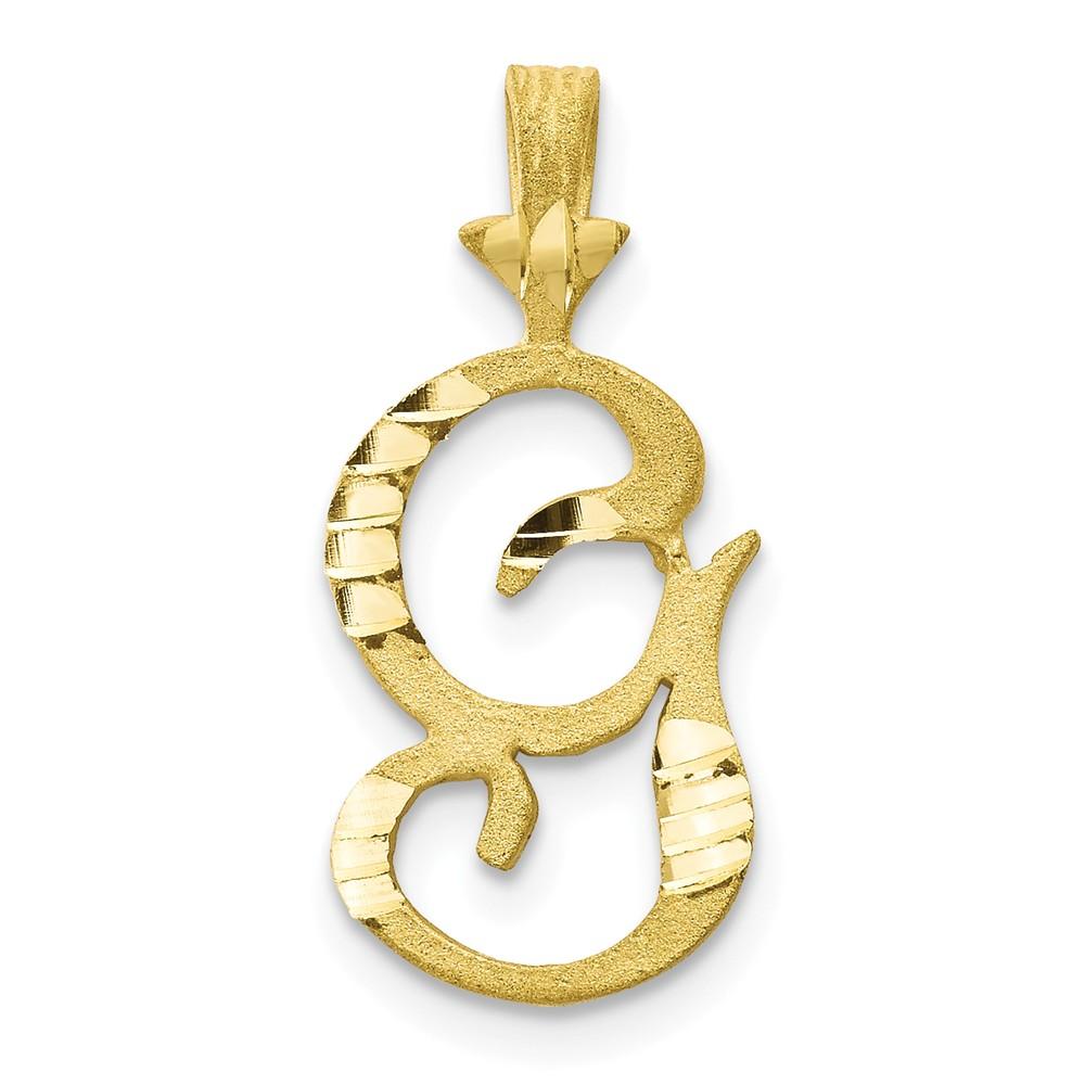 10k Yellow Gold Initial G Pendant