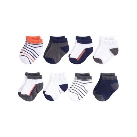 No Show Sock 8pk (Baby Boys) (Sock Monkey Baby Boy Clothes)