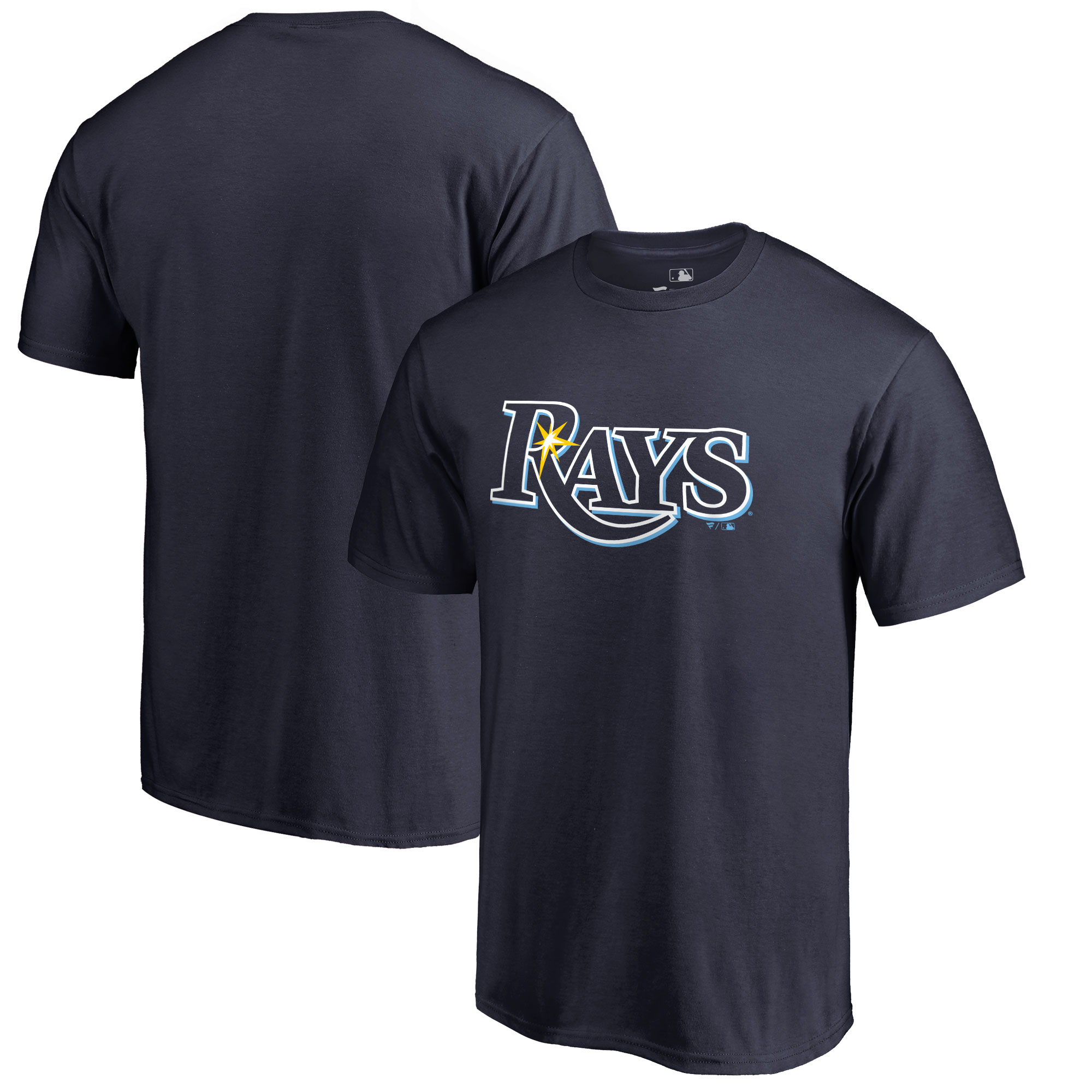 Tampa Bay Rays Big & Tall Primary Team Logo T-Shirt - Navy