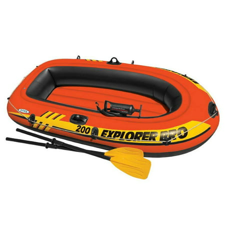 Intex Explorer Pro 200 2-Person Inflatable Boat Set with French Oars and High Output Air Pump
