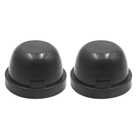 2pcs 80mm Black Rubber Waterproof Car LED Headlight Dust Cover Seal Cap Housing - image 1 of 4