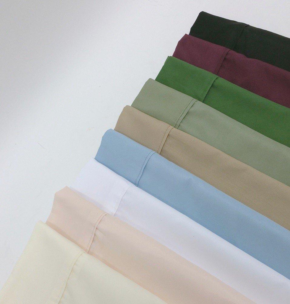 microfiber solid twin xl sheet set white