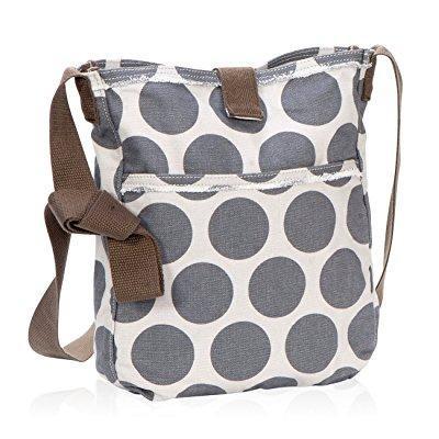 e6cf7318aae85c ... thirty one retro metro crossbody purse in grey mod dot - no monogram -  3972
