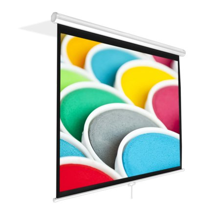 PYLE PRJSM7206 - Universal 72-Inch Roll-Down Pull-Down Manual Projection Screen (42.5