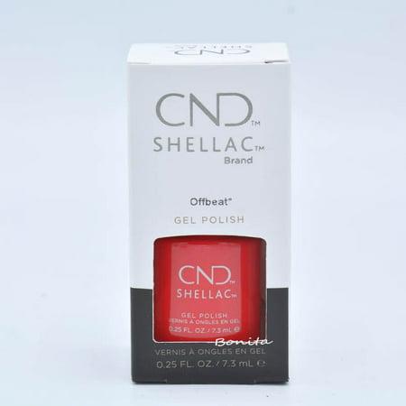 CND Shellac Gel Polish - Offbeat, 0.25 oz - Shellac Nail Art Halloween