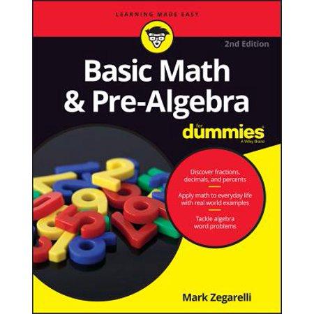 Basic Math and Pre-Algebra For Dummies - eBook (Basic Math & Pre Algebra For Dummies)
