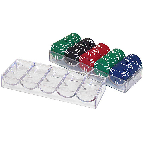 Trademark Poker 10 Clear Acrylic Poker Chip Racks