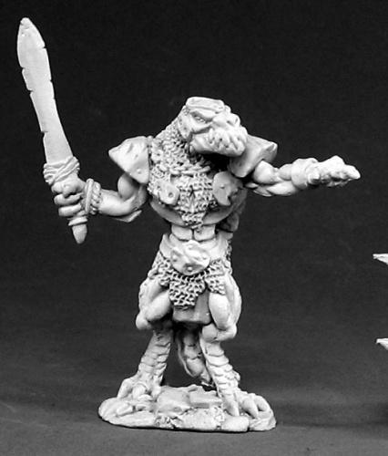 Reaper Miniatures Lizardman Tyrant #02408 Dark Heaven Legends Unpainted Metal