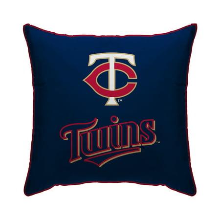 "Minnesota Twins 18"" x 18"" Plush Team Logo Decorative Throw Pillow - Blue - No Size"