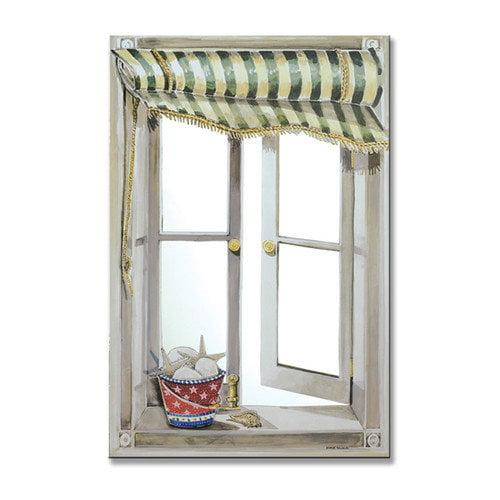 Stupell Industries Green Canopy Faux Window Mirror Scene
