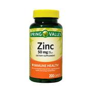 Spring Valley Zinc Caplets, 50 mg, 200 Ct