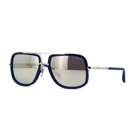 Dita Mach One Sunglasses DRX-2030J Titanium Blue / Silver Flash Lens 59mm