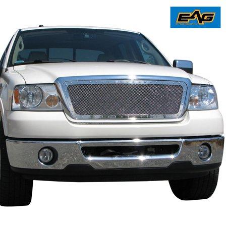 EAG 04-08 Ford F-150 Grille Rivet Chrome Stainless Steel Wire Mesh Grille (150 Mesh Stainless Steel)