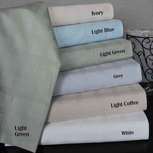 Simple Luxury 300 Thread Count Supima Cotton Checkered Sheet Set