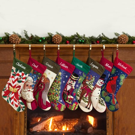 Christmas Stocking Personalized.Personalized Needlepoint Stocking