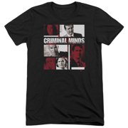 Criminal Minds Character Boxes Mens Tri-Blend Short Sleeve Shirt
