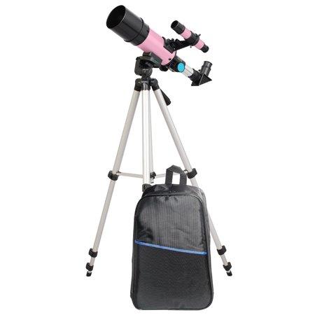 Twinstar 60mm Compact Refractor Telescope Backpack Bundle,