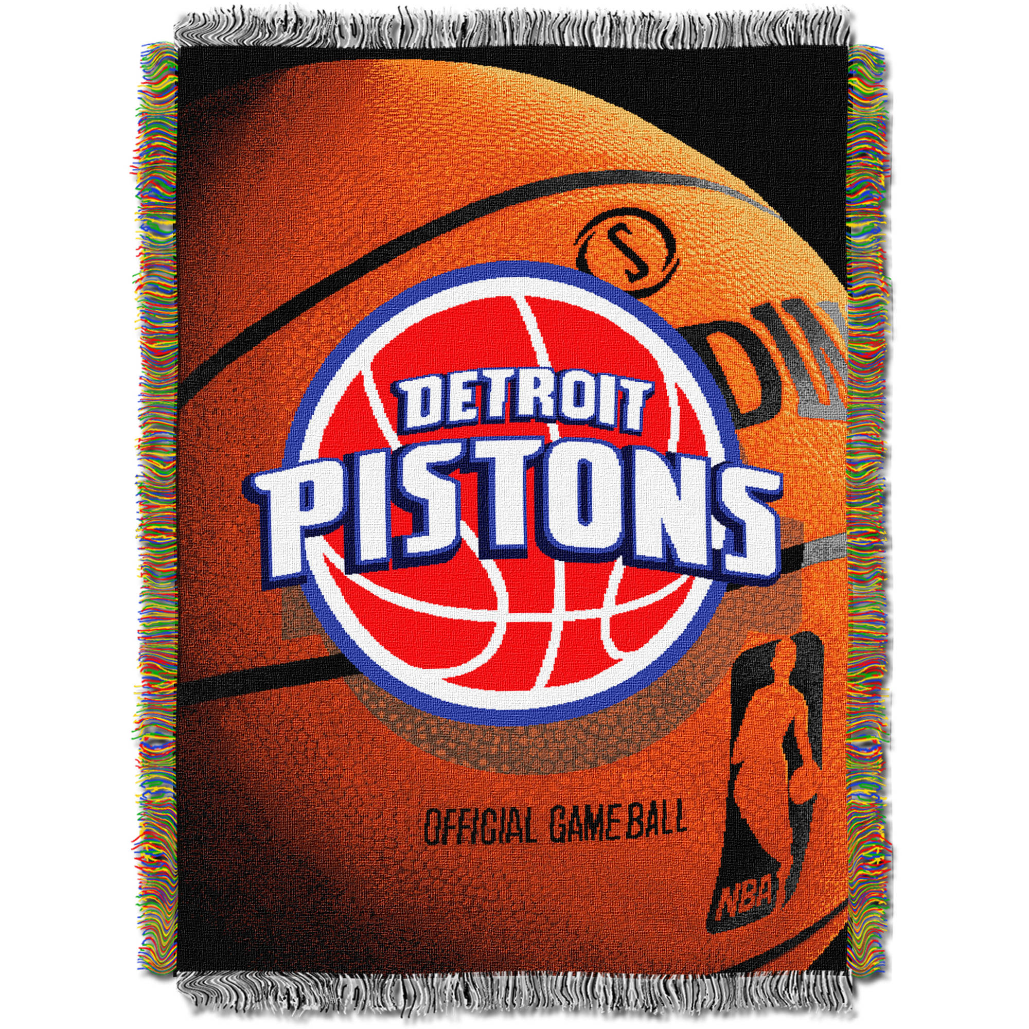 """NBA 48"""" x 60"""" Photo Real Series Tapestry Throw, Pistons"""