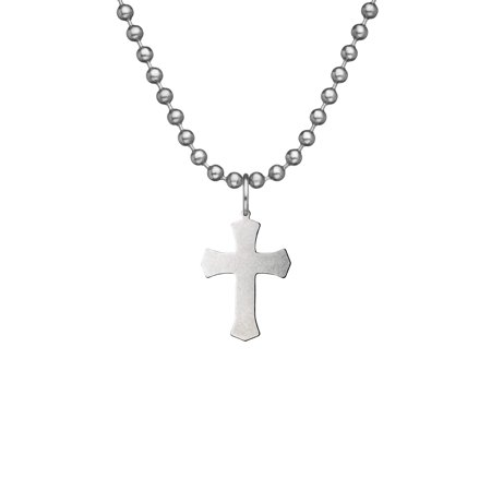 GI JEWELRY Military Issue WARRIOR CROSS With Beaded Chain - - Military Cross