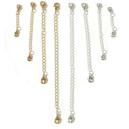 - Chain Extender Set For Necklace or Bracelet 1.5 inch,3 inch,4 inch,6 inch-8 pcs