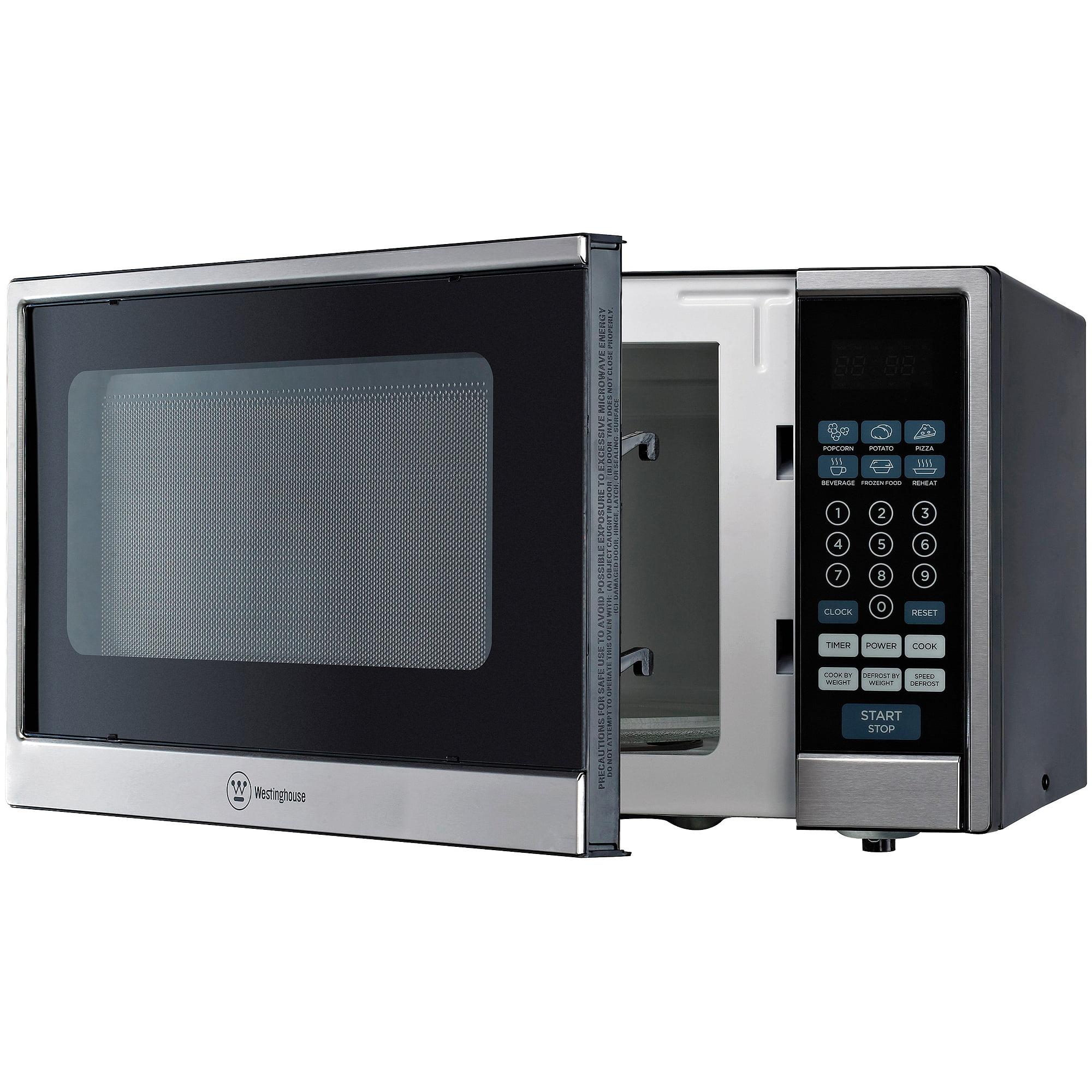 Westinghouse 1 Cu Ft 1000w Countertop Microwave Black Stainless Steel