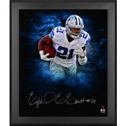"""Ezekiel Elliott Dallas Cowboys Framed Autographed 20"""" x 24"""" In Focus Photograph - Fanatics Authentic Certified"""