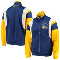 Golden State Warriors Starter The Contender Tricot Full-Zip Track Jacket - Royal/Gold