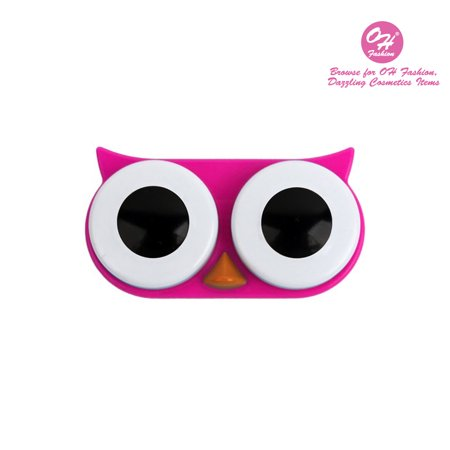 OH Fashion Contact Lens Case Owl style, Pink travel case, 1 pc, eyecare, contact lens, contact storage - Halloween Contact Lenses Store