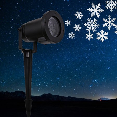 LED Moving Snow Projector Light For Indoor Outdoor Decorating Auto Swi