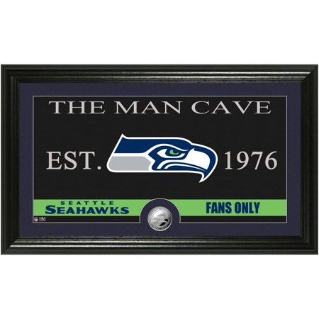 The Highland Mint NFL Man Cave Bronze Coin Panoramic Photo Mint, Seattle Seahawks ()