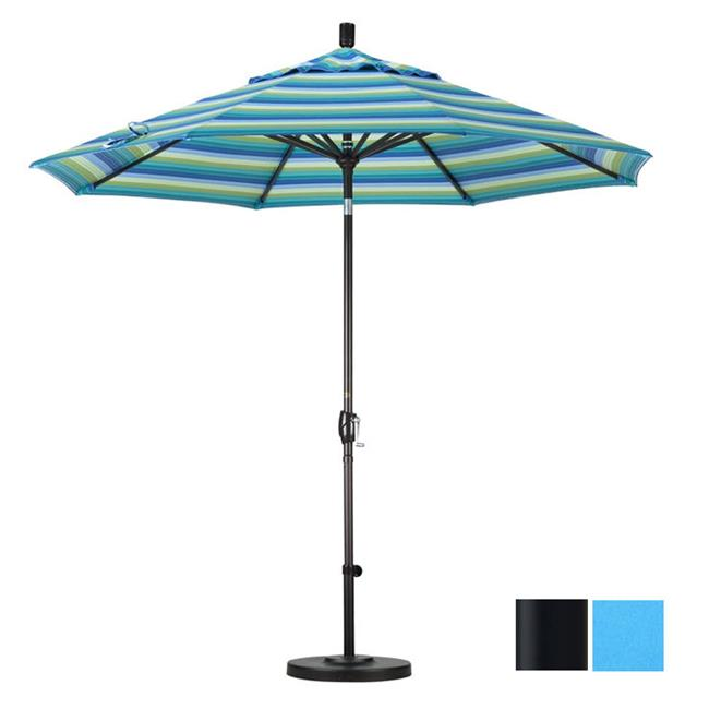 9 ft. Aluminum Market Umbrella Push Tilt - Matted Black-Pacifica-Capri