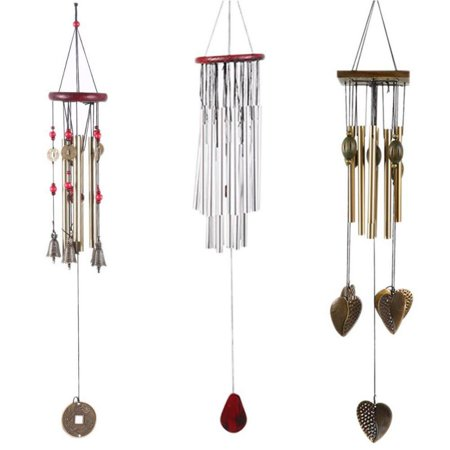 Solid Wood Bronze Copper Mobile Wind Chimes Bells Metal Rust-proof 60cm Hanging Windchimes Collection Home Garden Indoor Decor Ornament Gift - Chinese Fans Indoor Garden Gift Set