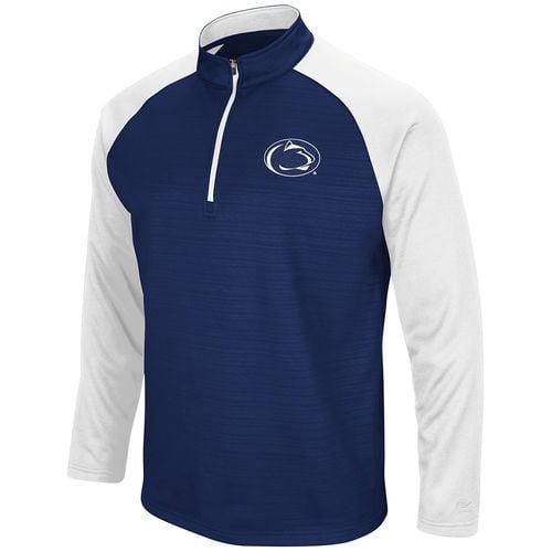Men's Colosseum Navy Penn State Nittany Lions Setter Quarter-Zip Pullover Jacket by Colosseum