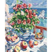 Sea View Counted Cross Stitch Kit-10.25""