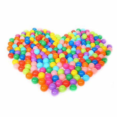 Pit Balls, 100pcs Colorful Fun Phthalate Free BPA Free Crush Proof Balls  Soft Plastic Air-Filled Ocean Ball Playballs for Baby Kids Tent Swim Toys