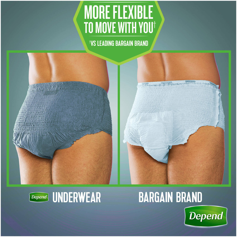 d76e4a1cc1298 Depend FIT-FLEX Incontinence Underwear for Men, Maximum Absorbency, S/M,  Grey, 32 Count - Walmart.com